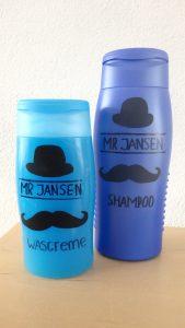 www.love2try.nl Shampoo fles pimpen verjaardagscadeau